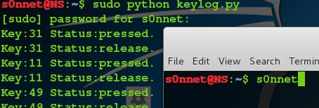 Linux下的键盘记录程序(python版)